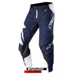 Pantaloni ALPINESTARS MX TECHSTAR FACTORY colour navy blue/white